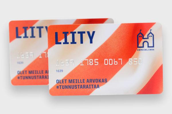Offset-painettu jäsenkortti