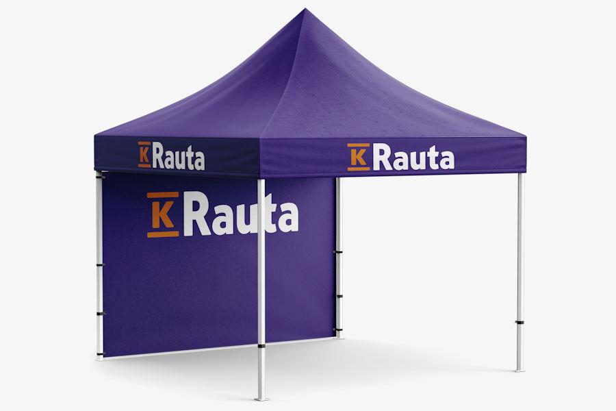 3x3m Popup teltta omalla painatuksella